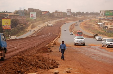 Carretera en Kenya
